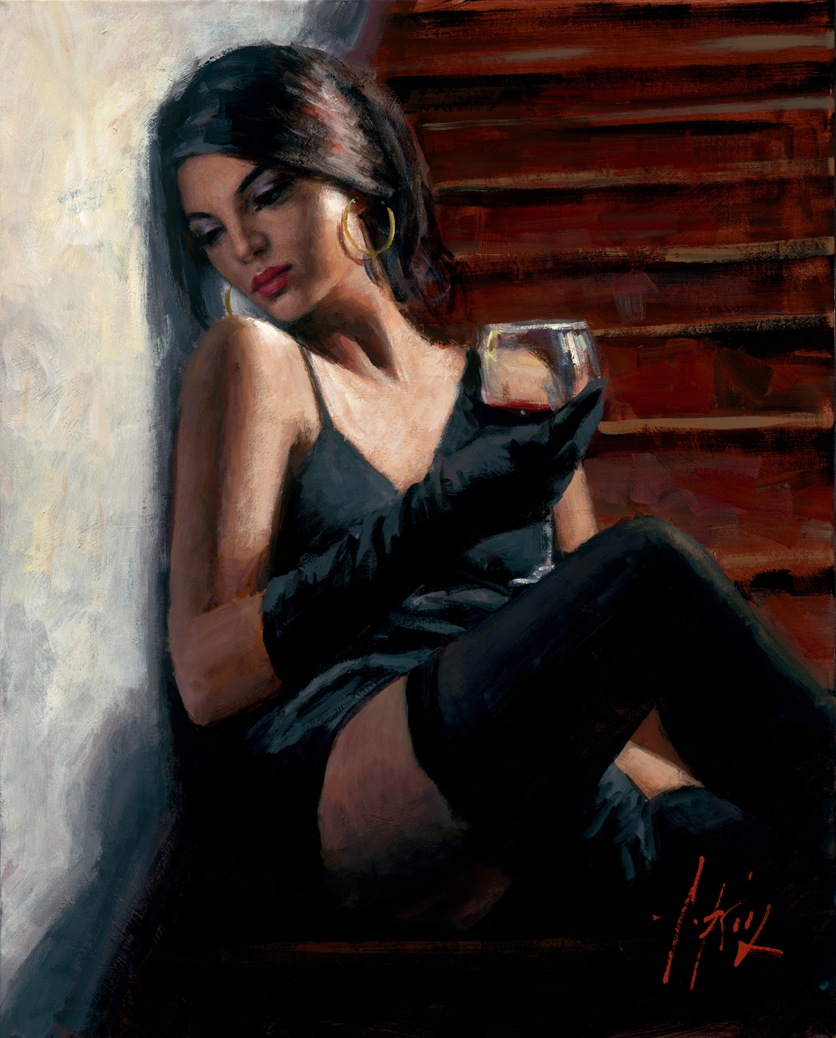 Fabian Perez Handsigned And Numbered Limited Edition