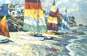 "Howard Behrens Limited Edition Serigraph on Paper: ""Summer Sails"""