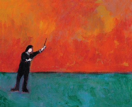 "J.D. Wild Hand Signed and Numbered Limited Edition Giclee: ""The Conductor"""
