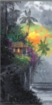 """James Coleman Hand Signed and Numbered Limited Edition Gallery Wrapped Giclee on Canvas:""""Discovering Paradise"""""""