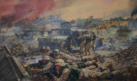 """James Dietz Handsigned and Numbered Limited Edition Artist Proof Print:""""Bridges of Freedom"""""""
