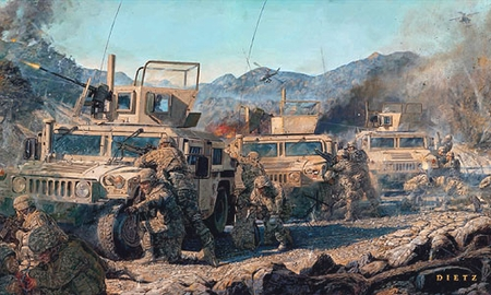 """James Dietz Handsigned and Numbered Limited Edition Print:""""Counter Attack"""""""