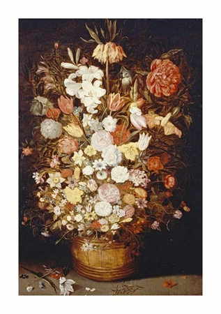 """Jan Bruegel II Fine Art Open Edition Gicl�e:""""A Crown Imperial, a Peony and Other Flowers"""""""