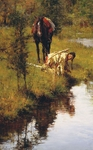 "Howard Terpning Hand Signed and Numbered Limted Edition Gicl�e Canvas:""Caution Born of Necessity"""