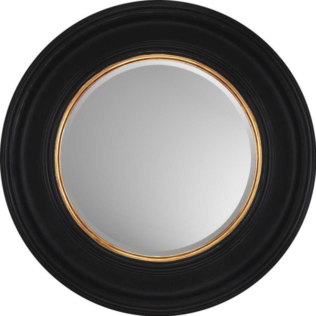Decorative Wall Mirror By Paragon Round Black With Gold Mirrors