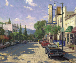 "Kinkade Plein Air Limited Edition Hand Embellished  Canvas:""Los Gatos"""