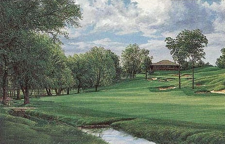 "Linda Hartough Hand Signed and Numbered: ""Artist Proof - 18th Hole, Muirfield Village Golf Club - Paper"""