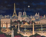 "Liudmila Kondakova Hand-signed and Numbered Limited Edition Canvas:""City of Dreams"""