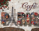 "Liudmila Kondakova Hand-signed and Numbered Limited Edition Canvas:""Caf� Paris"""