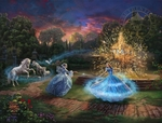 "Thomas Kinkade Disney Limited Edition Giclee:""Cinderella - Wishes Granted"""