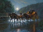 "Mark Keathley Limited Edition Hand-Embellished Canvas Giclee:""Texas Highway"""