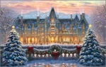 """Thomas Kinkade Signed and Numbered Limited Edition Print and Hand Embellished Canvas:""""Christmas at Biltmore"""""""