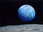 """Alan Bean Limited Edition BrushStroke Canvas:""""The Source of Intelligent Life"""""""