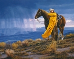 """Tim Cox Hand Signed and Numbered Limted Edition Gicl�e Canvas:""""A Storm Across the Valley"""""""