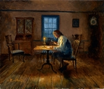 """Mort K�nstler Hand Signed and Numbered Limited Edition Giclee Print:""""The Culper Spy  (Oyster Bay, Long Island, 1779)"""""""