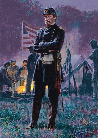 "Mort Kunstler Handsigned & Numbered Limited Edition Four Generals Print:""The New General """