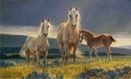"Nancy Glazier Handsigned and Numbered Limited Edition Print: ""Golden Glory (Palomino)"""