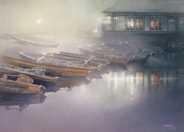 "Nita Engle Limited Edition Print:""Mystical Boats"""