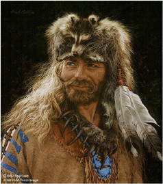 """Paul Calle Handsigned & Numbered Limited Edition Print:""""And A Grizzly Claw Necklace"""""""