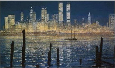 "Peter Ellenshaw Hand Signed and Numbered Limited Edition Print :"" Glisten of New York """