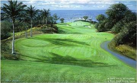 "Peter Ellenshaw Hand Signed and Numbered Limited Edition Print :"" Mauna Kea 11th Hole """