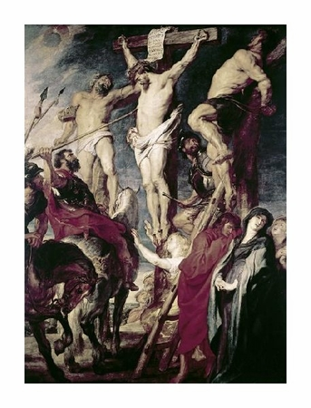 "Peter Paul Rubens Fine Art Open Edition Gicl�e:""Christ on the Cross Between the Two Thieves"""
