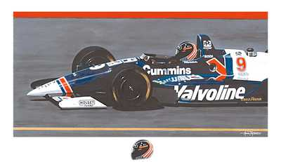"Peyton Hand Signed and Numbered Limited Edition Serigraph: ""Robby G (Robby Gordon)"""
