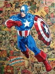 "Randy Martinez  Marvel Studio Limited Edition Fine Art Giclee on Canvas: ""Legacy: Captain America"""