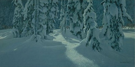 """Robert Bateman Hand Signed And Numbered Limited Edition Print  and Canvas Giclee :""""Deep Winter - Wolves"""""""