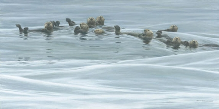 "Robert Bateman Hand-Signed and Numbered Limited Edition Print  and Canvas Giclee:""Raft of Otters"""