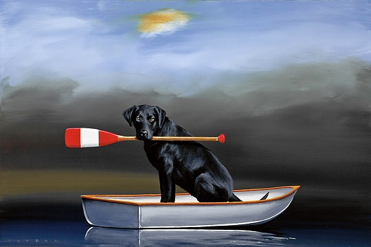 Robert Deyber Artist Signed Limited Edition Hand Crafted Stone Lithograph Quot Doggie
