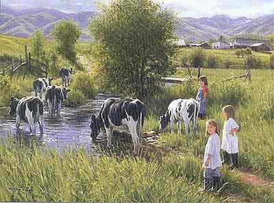 "Robert Duncan Limited Edition Print: ""Farms are for Kids"""