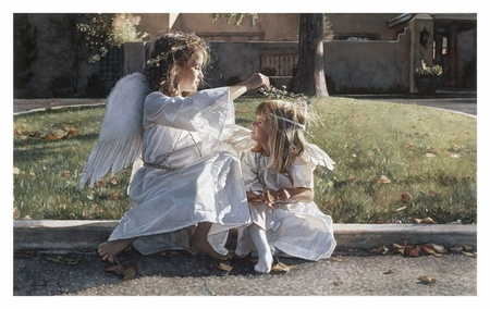 "Steve Hanks Handsigned & Numbered Limited Edition Print:""Someone to Watch Over Me"""