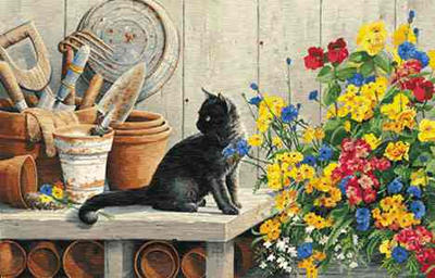 "Susan Bourdet Limited Edition Print: ""Gardener's Helper'"""