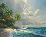 "Mark Keathley Limited Edition Hand-Embellished Canvas Giclee:""Clearing Storms"""