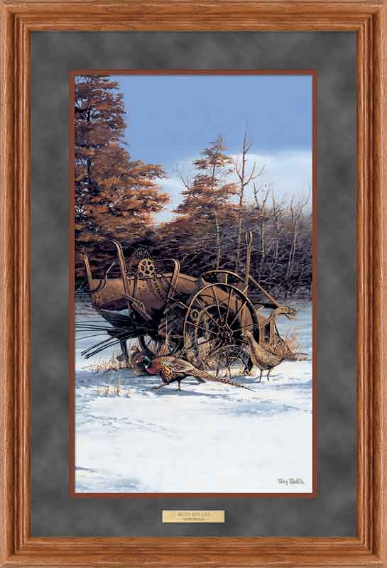 terry redlin framed deluxe open edition pinnacle print rusty refuge