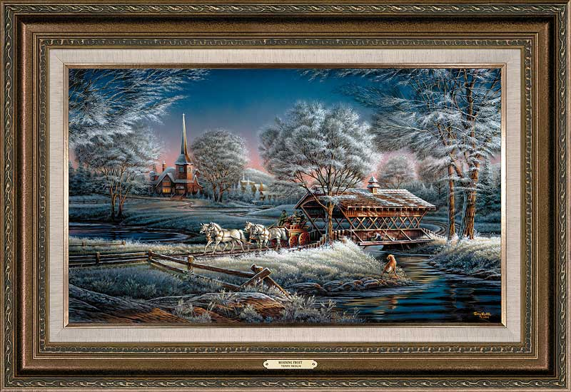 terry redlin framed open edition encore canvasmorning frost