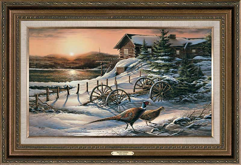 terry redlin framed open edition encore canvaspeaceful evening