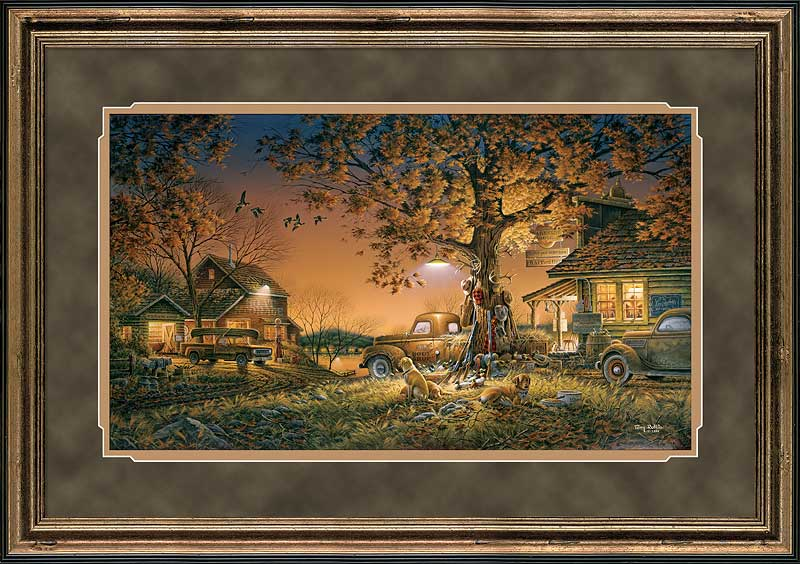 terry redlin hand signed and numbered limited edition premium framed print twilight