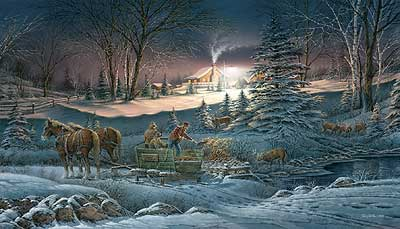 "Terry Redlin Handsigned and Numbered Limited Edition Artist Proof Print: ""A Helping Hand"""