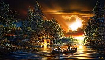 "Terry Redlin Limited Edition Print: ""Evening Rendezvous"""