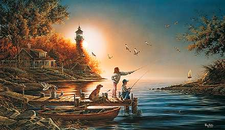 terry redlin limited edition print from sea to shining