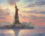 "Thomas Kinakde Limited Edition Giclee Print and Canvas:""Dedicated to Liberty"""