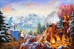 """Thomas Kinkade Limited Edition Giclee on Paper/Canvas:""""Ice Age"""""""