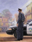 "Thomas Kinkade Signed and Numbered Limited Edition Print and Canvas:""Called to Service"""