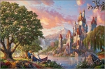 "Thomas Kinkade Disney Limited Edition Giclee:""Beauty and the Beast II"""