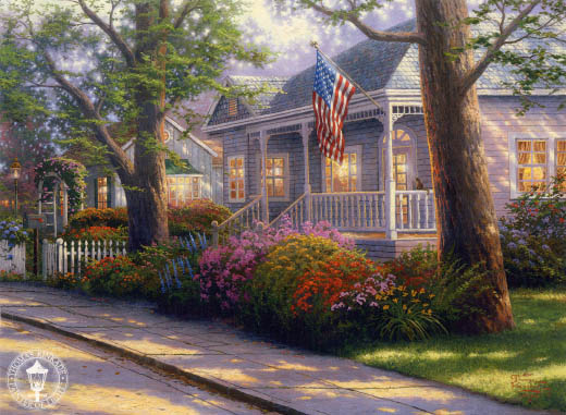Thomas Kinkade Signed And Numbered Limited Edition Canvas