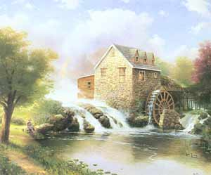 "Thomas Kinkade Signed and Numbered Limited Edition Hand Embellished  Canvas:""Blessings of Summer""  (Blessings of the Seasons Series)"