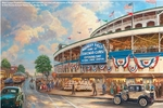 "Thomas Kinakde Limited Edition Giclee Print and Canvas:""Wrigley Field� Memories and Dreams"""