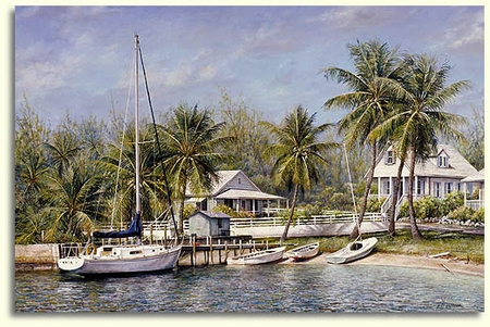 "Tripp Harrison Hand Signed and Numbered Limited Edition Print:""Island Cove"""